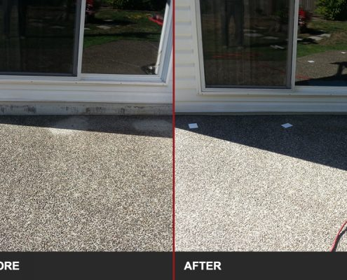 before and after image of concrete slab lifting